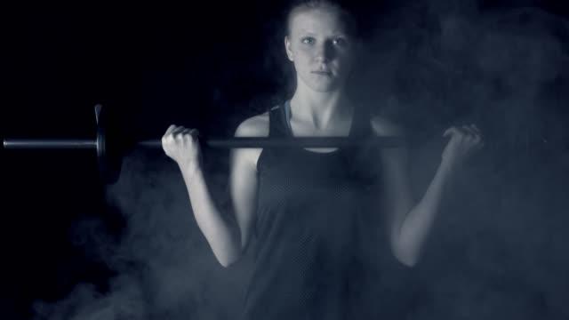 Teen Girl Lifting Weights video