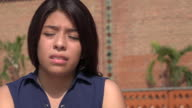 Teen Girl Sad And Tearful video