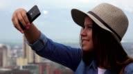 Teen Girl Taking Selfies video