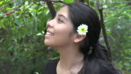 Teen Girl with Butterflies video