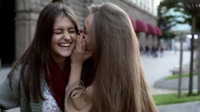 Teen girls gossiping video