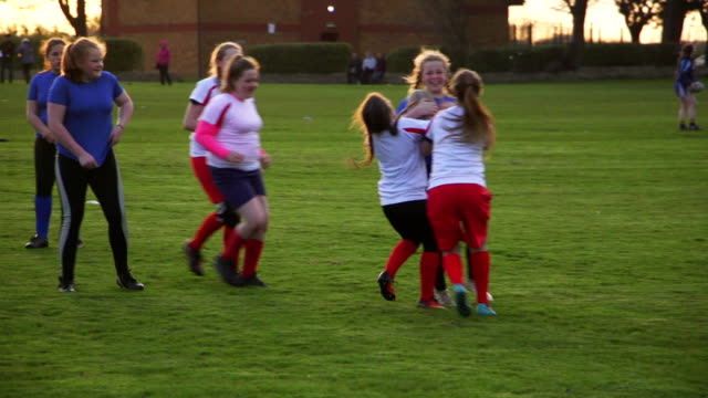 Teen Girls Playing Rugby on the Field video