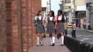 Teen Girls Walking And Having Fun video