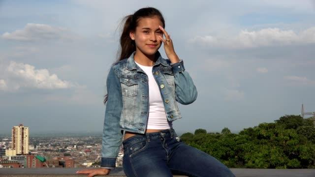 Teen Hispanic Girl Sitting video