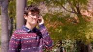 Teen on Serious Phone Call video