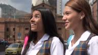 Teen Prep School Girls Talking video