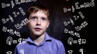 Teen thinks boy formula physics science scientist genius video