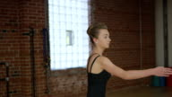 Teenage ballerina doing ballet video