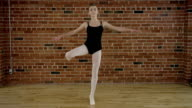 Teenage ballerina doing ballet video