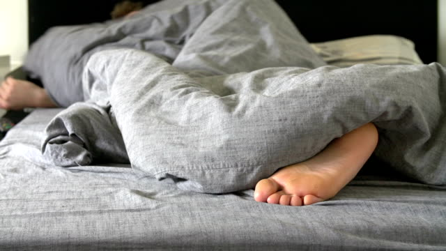 Teenage Boy Asleep In Bed video
