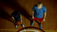 HD: Teenage Boy Practicing Basketball With Coach video