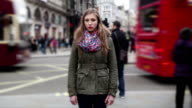 Teenage girl lost in the big city of London video