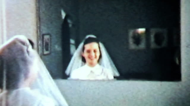 Teenage Girl Prepares For Christian Confirmation-1958 Vintage 8mm film video