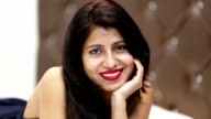Teenage girl smiling portrait video