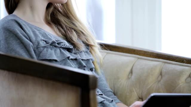 Teenage Girl Using Digital Tablet video