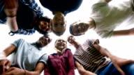 Teenage huddle video