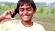 Teenager Boy Talking on Phone video