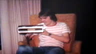 Teenager Gets Clock Radio For Birthday (1978 Vintage 8mm) video