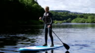 Teenager Paddleboarding video