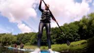 Teenager Paddleboarding video