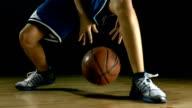HD: Teenager Practicing Basketball Dribbling video