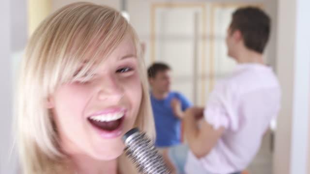 HD: Teenagers Having Fun Imitating Music Band video