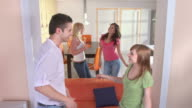 HD: Teenagers Having Party At Home video