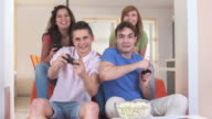 HD DOLLY: Teenagers Playing Video Games video
