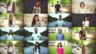 Teenagers portrait composition video
