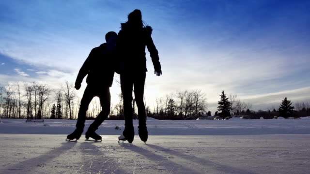 Teens have fun skating together video