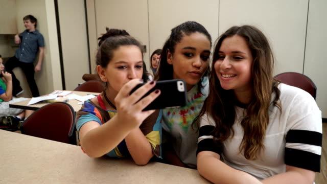 Teens Take Funny Selfie video