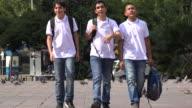 Teens Walking Home From School video
