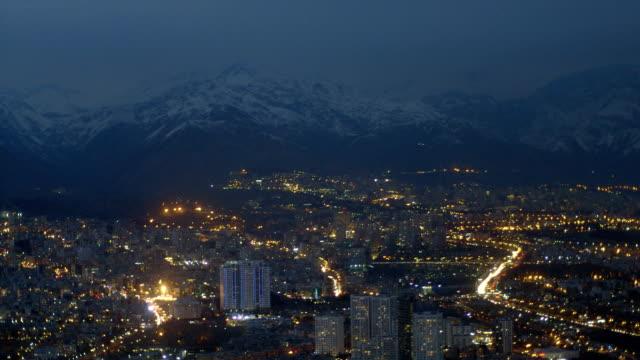 Tehran city by night video