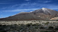 Teide mountain on Tenerife panorama video