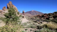Teide National Park Roques de Garcia in Tenerife at Canary Islands video