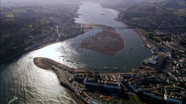 Teignmouth  - Aerial View - England, Devon, Teignbridge District, United Kingdom video