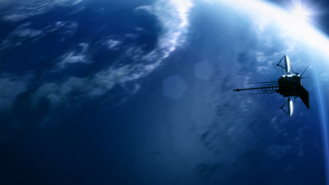 Telecommunication satellite 1. Cinema quality 3D animation. HD. Loop. video