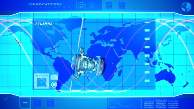 Telecommunication satellite video