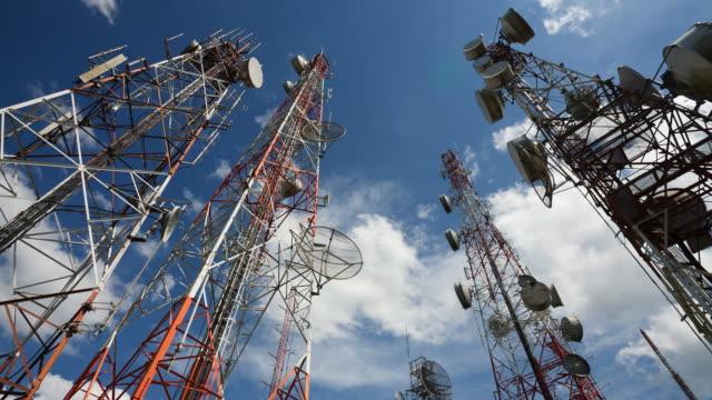 Telecommunication Tower Timelapse HD1080 video