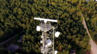 HD - Telecommunications tower with radar system video