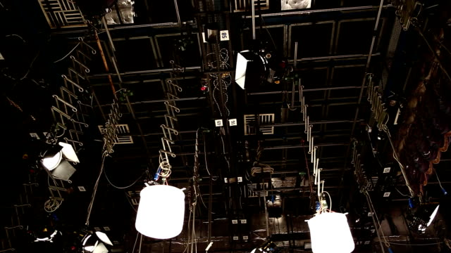Television commercial production set - Recording TV shows video