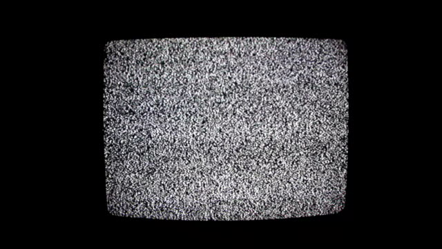 Television Static Black and White video
