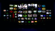 Television studio. Blue background. video