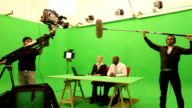 Television studio news room video