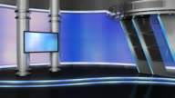 television studio, virtual set video