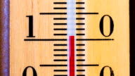 Temperature increases on a thermometer. Timelapse video