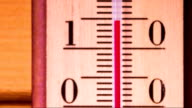 Temperature increases on a thermometer video