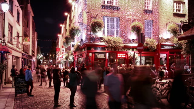 Temple Bar District, Dublin, Ireland video