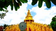 Temple Golden Pagoda at Saraburi Province video