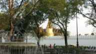 Temple of Emerald Buddha and fountain video
